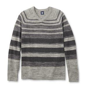 *5/$20NWT Men's Large XXL 2XL Striped Sweater Gray